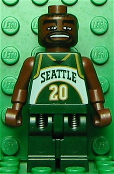 Former Seattle SuperSonic Gary Payton-Lego Style